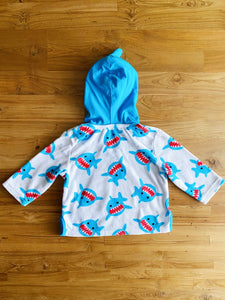 Zoocchini UPF 50+ Swim Coverup - Sherman the Shark | 0-12m