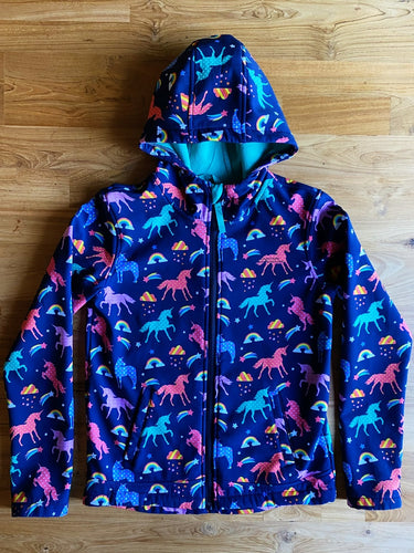 Mountain Warehouse Exodus Kids Printed Water Resistant Softshell (Unicorn) | 11-12y