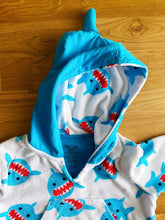 Load image into Gallery viewer, Zoocchini UPF 50+ Swim Coverup - Sherman the Shark | 0-12m