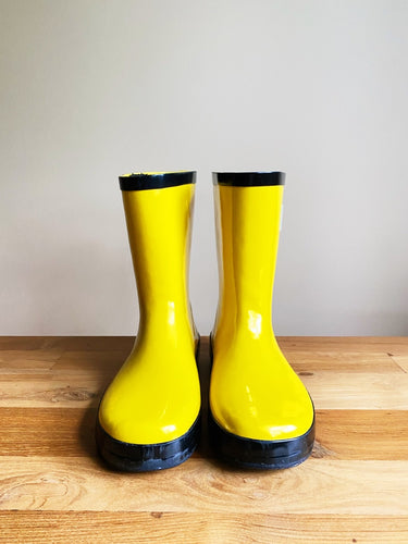 Stonz Kids' Rain Bootz- Yellow | 4 US (Kids)