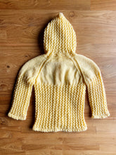 Load image into Gallery viewer, Vintage Hand Crochet Baby Cardigan With Hood | 12m