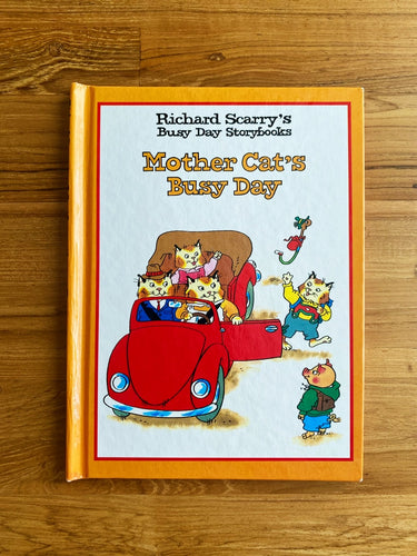 Vintage 1997 Richard Scarry's Busy Day Storybooks: Mother Cat's Busy Day