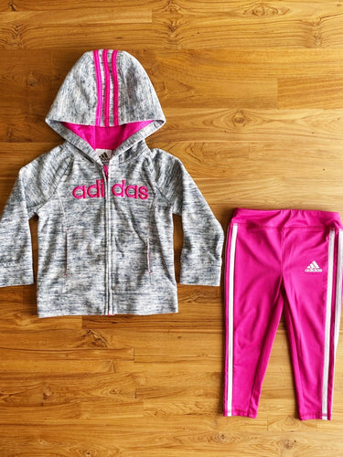 Adidas Full-Zip Hoodie & Leggings Set | 2y