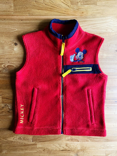 Vintage Disney Mickey Mouse Fleece Vest | 2y