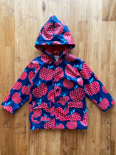 Hatley Polka Dots Apple Raincoat | 4y *REPAIRED*