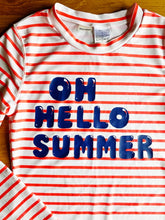 Load image into Gallery viewer, Old Navy Stripes Rashguard Top for Girls | 10-12y