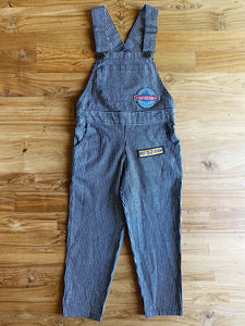 AIRLY momo Hickory Stripes Overalls With Patches | 6-7y