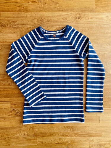 Tea Collection Striped Sporty Top (Blue) | 6y