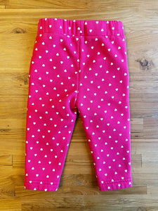 Gap Baby Print Pull-On Pants (Hearts) | 12-18m