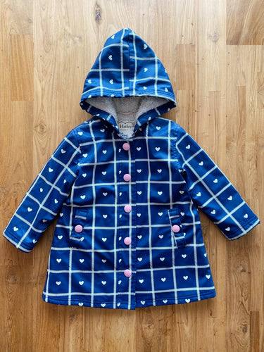 Hatley Crosshatch Hearts Sherpa Lined Splash Jacket | 4y