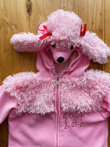 Toddler Pink Poodle Costume With Red Bows | 18-24m