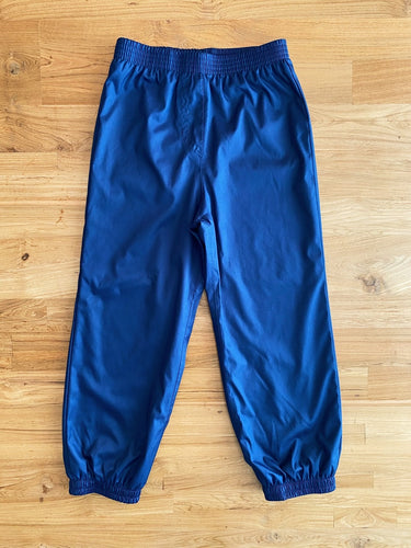 Navy Blue Lined Rain Pants | 6y