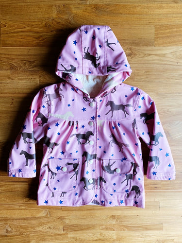 Hatley Playful Horses Baby Raincoat | 12m
