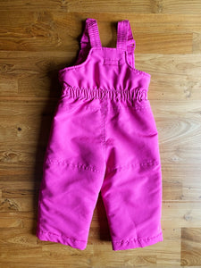 TNL Mode Kids Pink Ruffle Bib Snow Pants | 18m