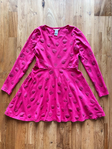 H&M Cotton Jersey Dress (Pink Hearts) | 8-10y