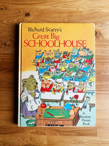 Vintage 1969 Richard Scarry's Great Big Schoolhouse | *Rare Item*