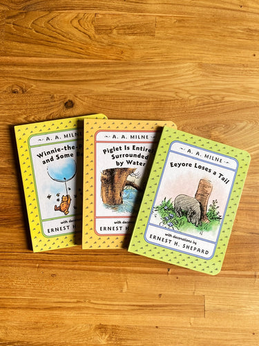 Vintage 1995 Winnie-The-Pooh's Board Book Collection (Set of 3) by A.A. Milne & E.H. Shepard