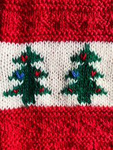 Load image into Gallery viewer, Vintage Windcrest Hand Knit Kids' Christmas Tree Vest | 3y & 8y