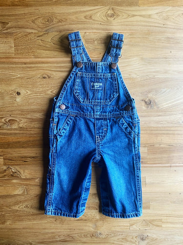 OshKosh B'Gosh Denim Overalls- Blue Wash | 6m