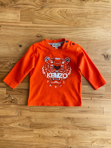 Kenzo Kids Tiger Graphic Baby Long-Sleeve T-Shirt | 6m