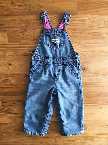 OshKosh Fleece-Lined Denim Overalls | 12m