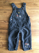 Load image into Gallery viewer, OshKosh Grey Corduroy Overalls | 9m