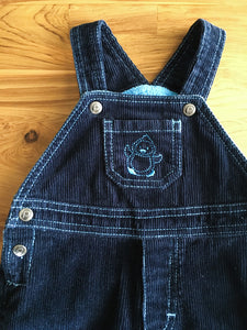 Please Mum Lined Navy Blue Cord Overalls | 0-3m & 3-6m