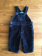 Load image into Gallery viewer, Please Mum Lined Navy Blue Cord Overalls | 0-3m & 3-6m
