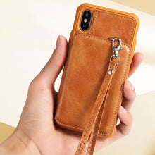 Load image into Gallery viewer, iPhone X Zipper Wallet Case