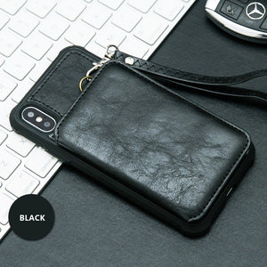 iPhone X Zipper Wallet Case
