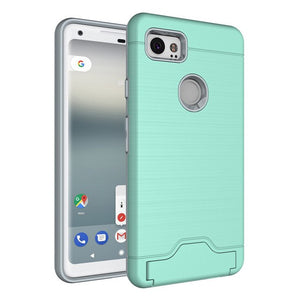 Heavy Duty Wallet Phone Case for Google Pixel 2
