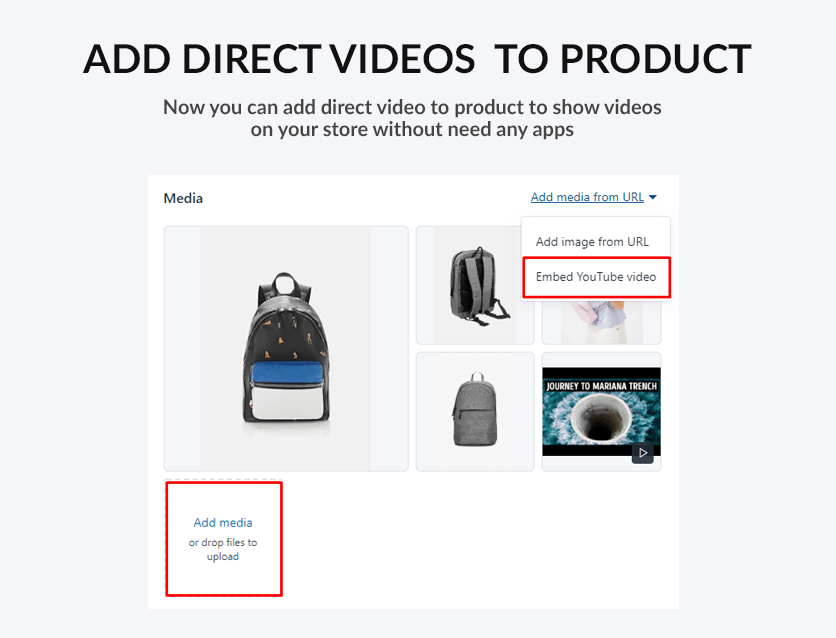 Add product video directly