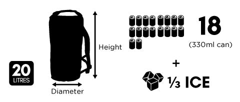 Dry Ice Cooler 20 Litre Backpack Size Guide Chart