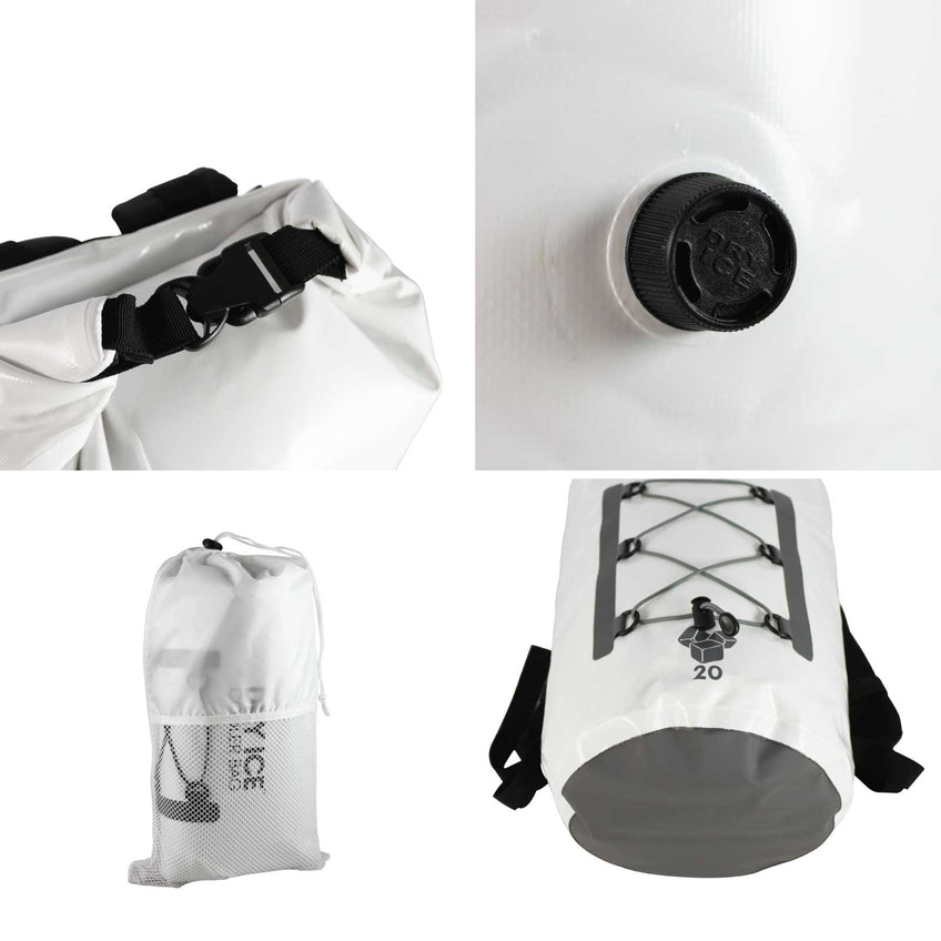 Premium Cooler Backpack White – 20 Litres