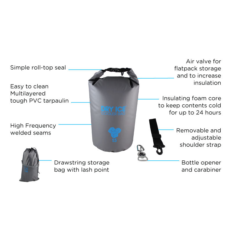 Cooler Bag Grey – 30 Litres