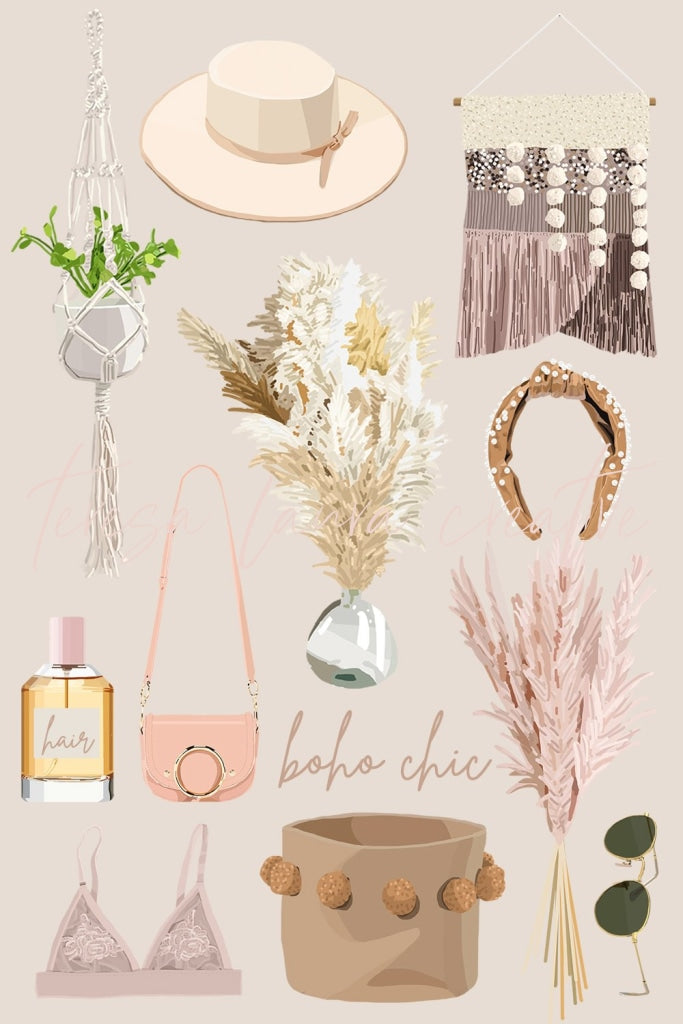 Boho Chic Sticker Pack