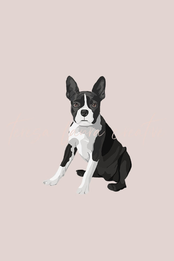 Boston Terrier Instagram Sticker Set