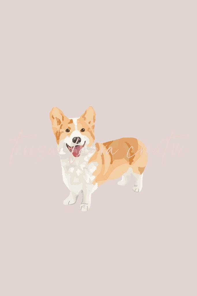 Corgi Instagram Sticker Set