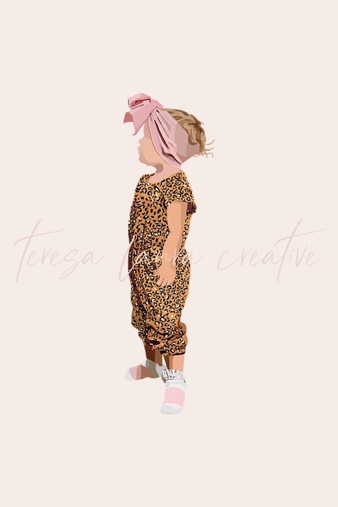 Custom Single Portrait Illustration (Child)