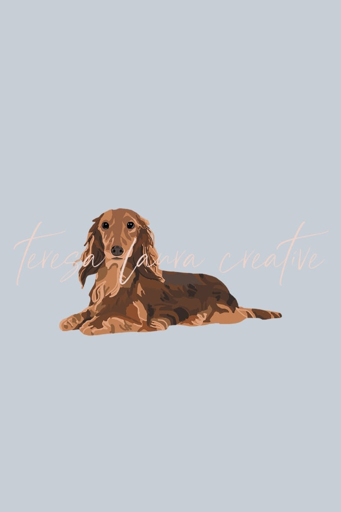 Dachshund Instagram Sticker Set
