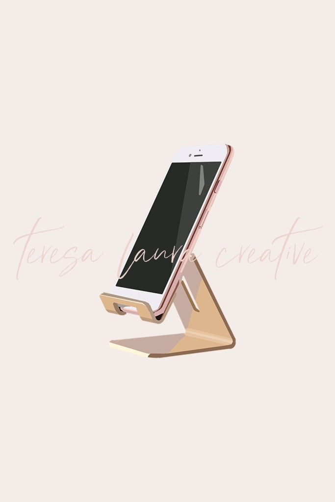 Gold Phone Stand