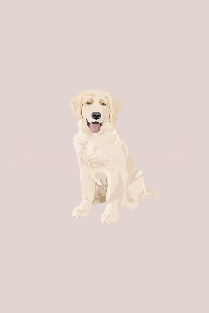 Golden Retriever Instagram Sticker Set