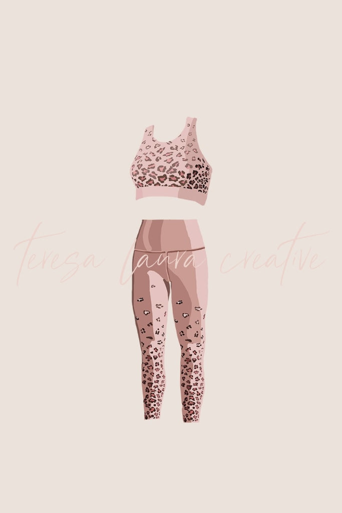 Leopard Workout Set