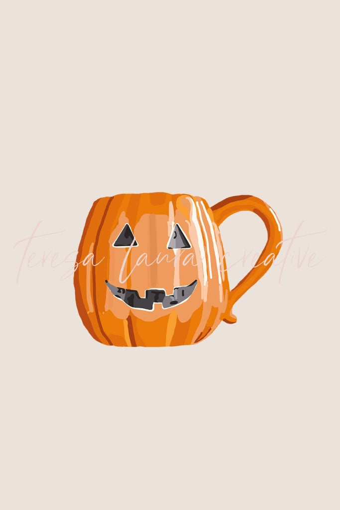 Orange Halloween Mug