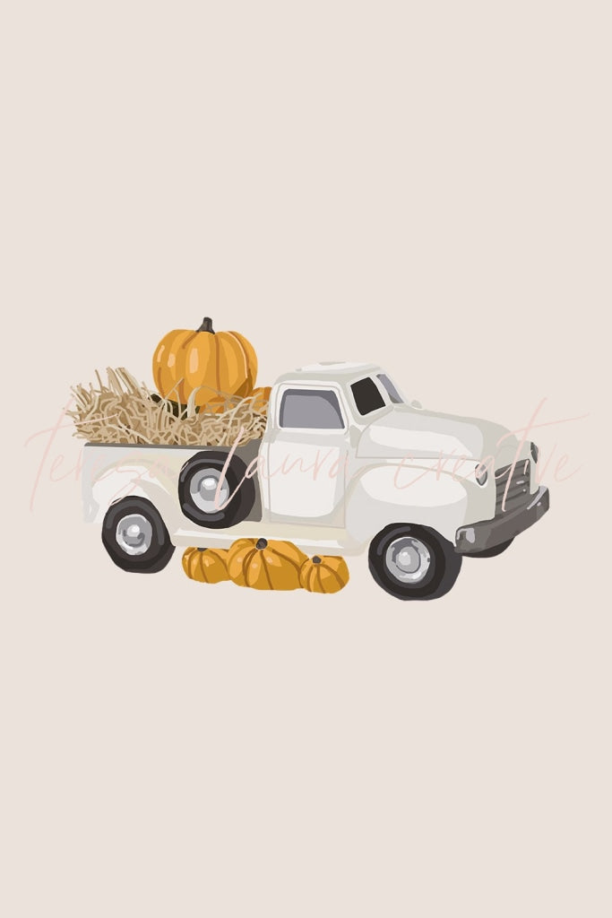 Orange Pumpkin Truck
