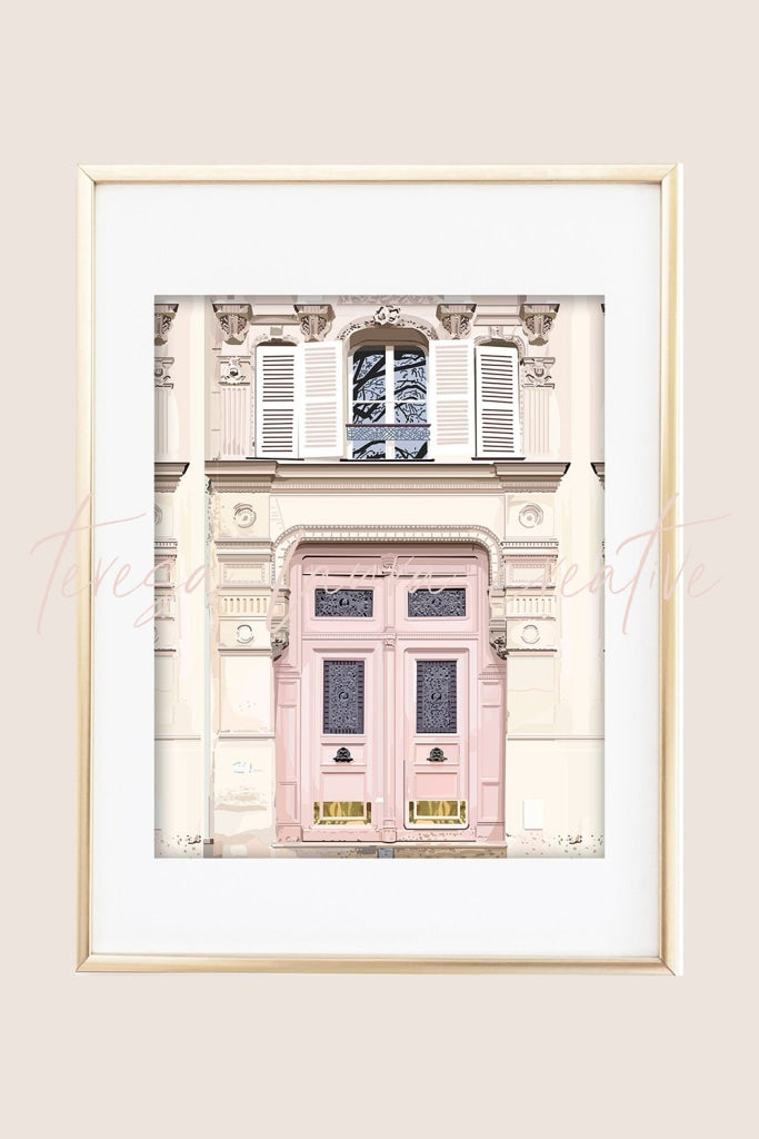 Pink Door Illustrated Art Print
