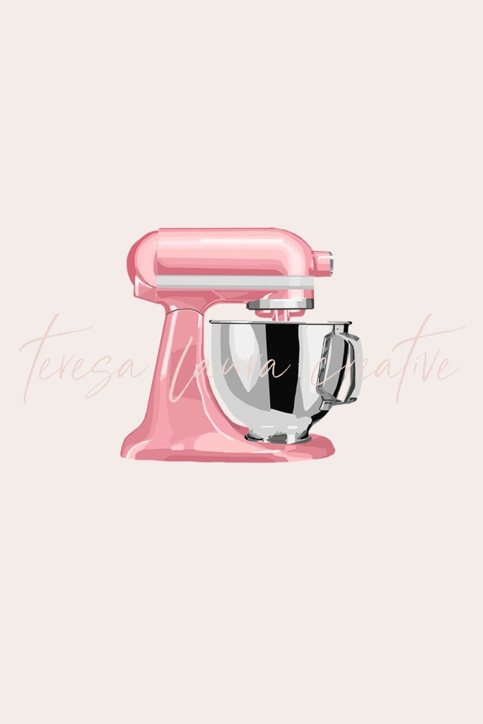 Pink Kitchen Mixer