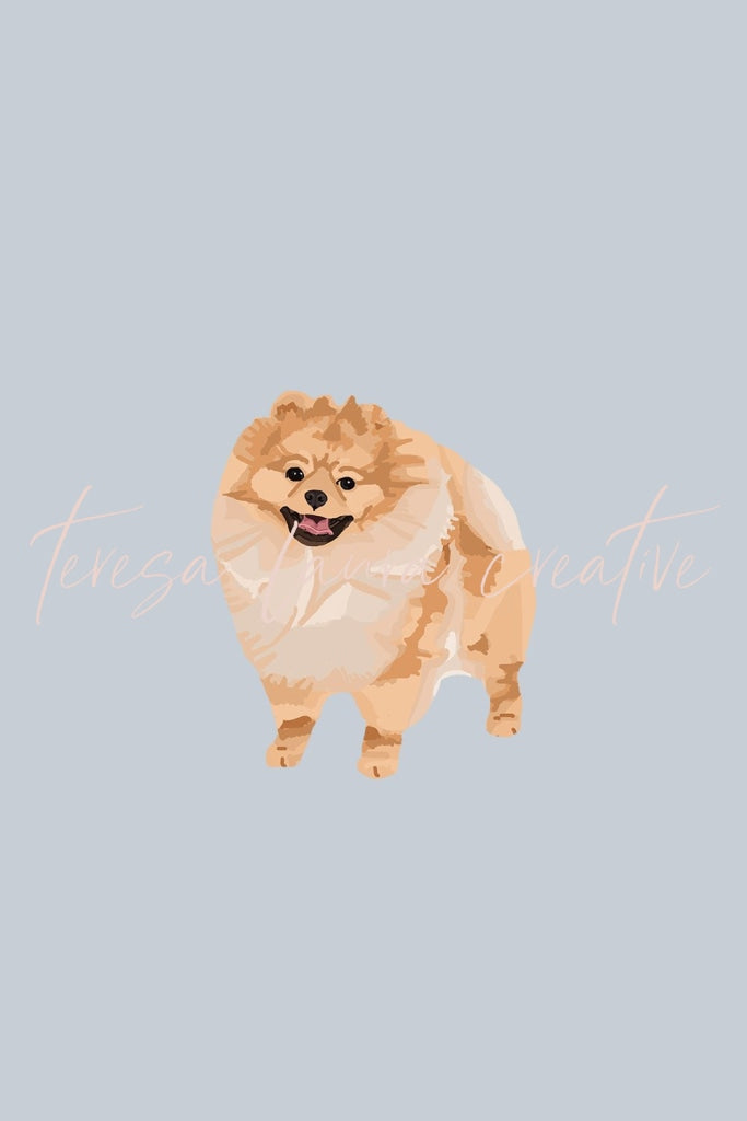 Pomeranian Instagram Sticker Set