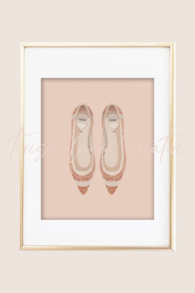 Pretty Shoes 02 Illustrated Art Print