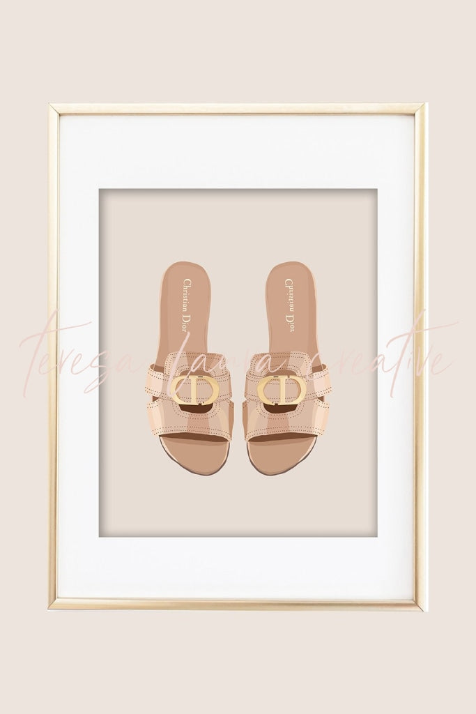 Pretty Shoes 03 Illustrated Art Print